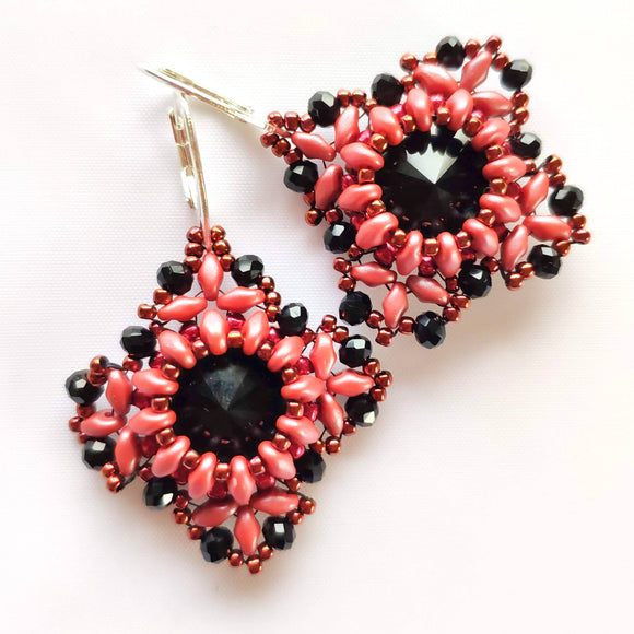 Dark Pink in Black Shades Earrings - The Biscuit Marketplace