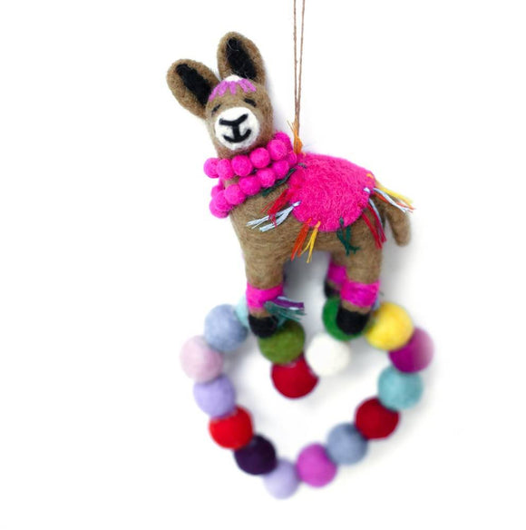 Felt Llama Wall Decoration