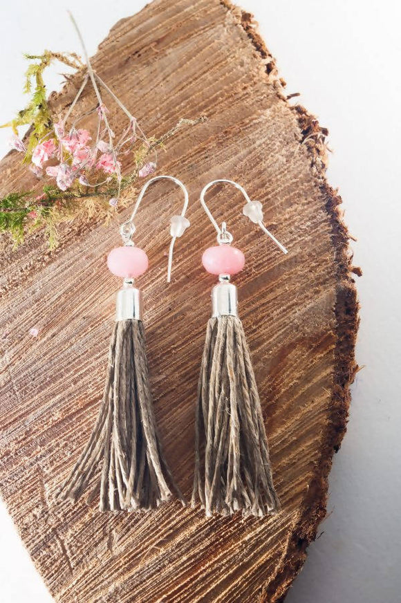 Jedeite Tassel Earrings - The Biscuit Marketplace