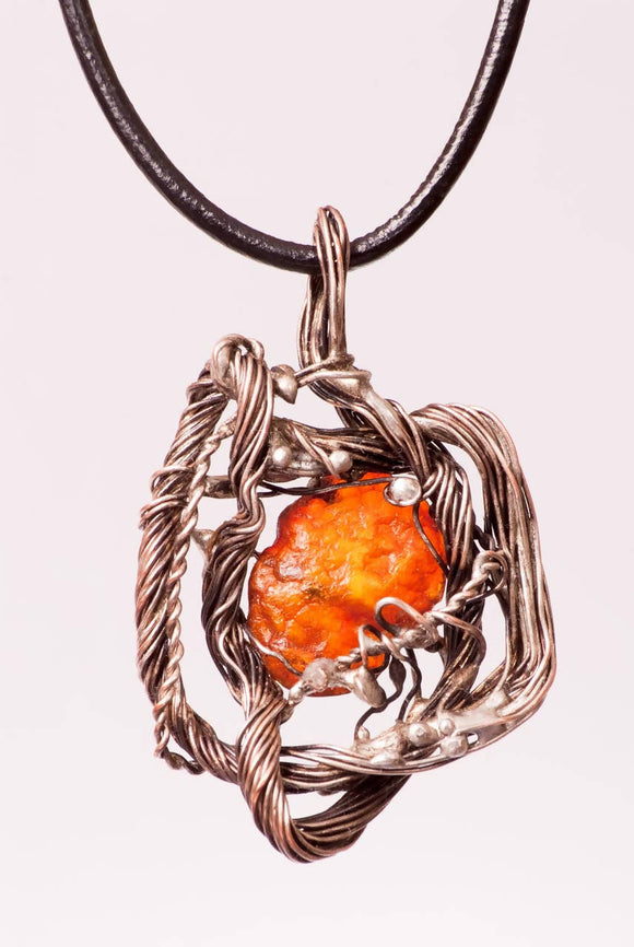 Amber Heart Necklace - The Biscuit Marketplace