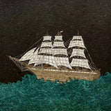Tall Ship on the Night Ocean - Illustration Print - The Biscuit Marketplace