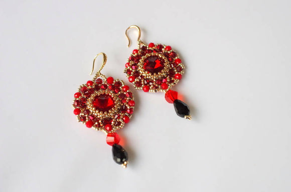 Flamenco Dance Earrings - The Biscuit Marketplace