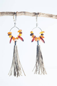 Amber Tassel Earrings II - The Biscuit Marketplace