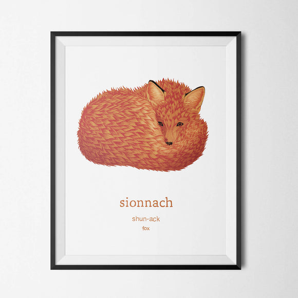 Sionnach - Fox - Irish Print