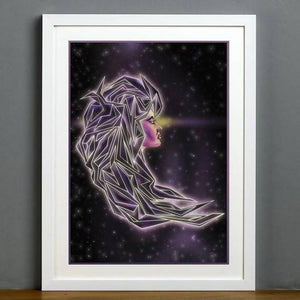 Futuristic Girl's Hair - Illustration Print - The Biscuit Marketplace