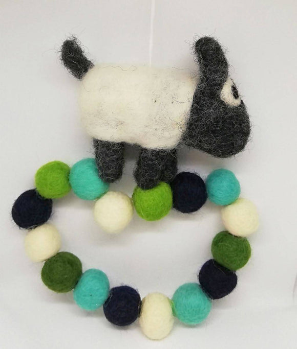Felt Sheep Wall Decoration - The Biscuit Marketplace