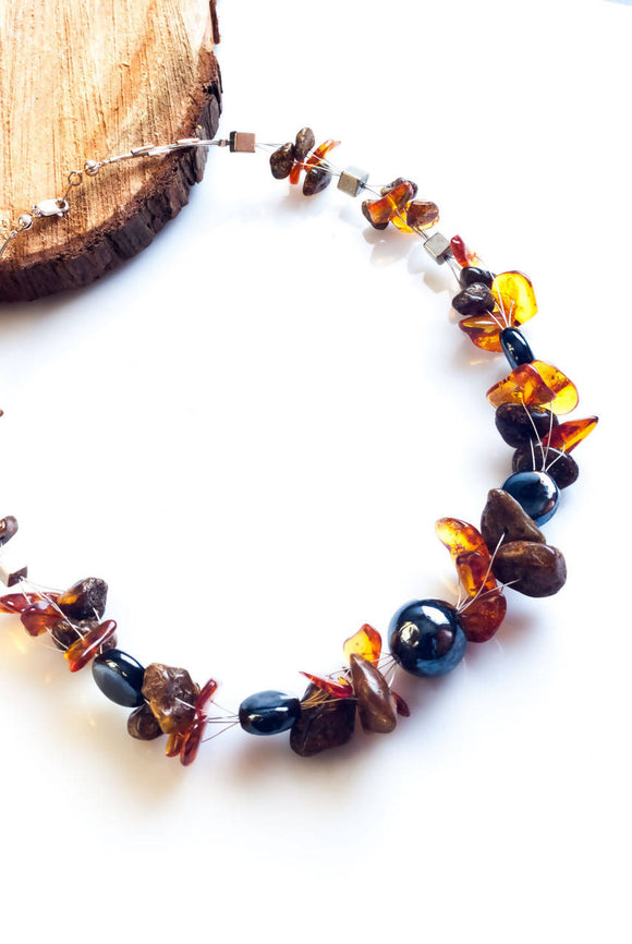 Amber Happiness Necklace - The Biscuit Marketplace