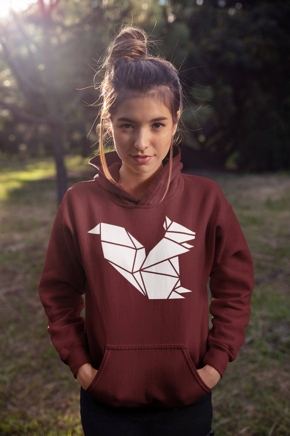 Geometric Origami Squirrel Hoodie - The Biscuit Marketplace