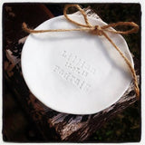 Rustic Porcelain Handmade Wedding Ring Dish - Personalised for the Bride and Groom's Big Day