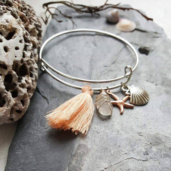 Boho Seaglass Bangle - The Biscuit Marketplace