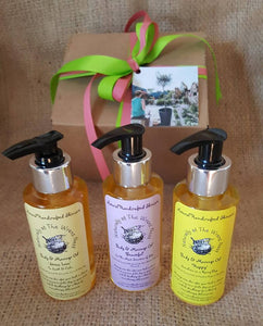 Body & Massage Oil Trio Gift - The Biscuit Marketplace