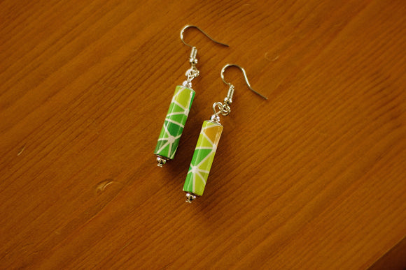 Geometric Collection - Paper Bead Earrings - The Biscuit Marketplace