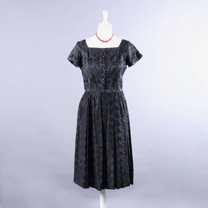 Vintage 1950's Black Dress - The Biscuit Marketplace