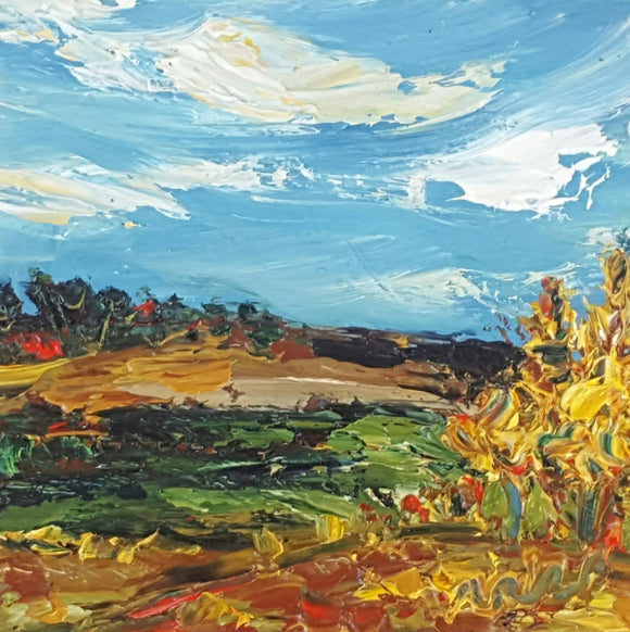The Golden Lands - a Autumn Landscape SOLD - The Biscuit Marketplace