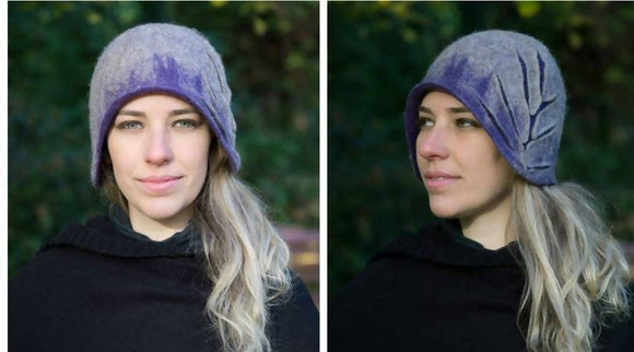 Felt Design Hat - Lavender - The Biscuit Marketplace