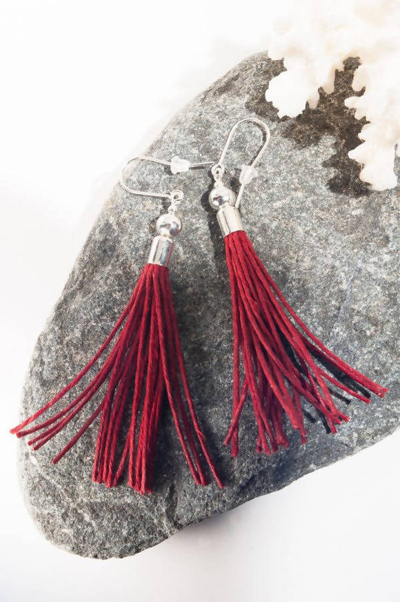 Metal Beads Tassel Earrings - The Biscuit Marketplace