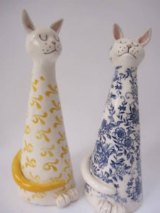 Ceramic tall cat - The Biscuit Marketplace