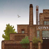 Guinness Brewery, Dublin, Ireland - Illustration print - The Biscuit Marketplace
