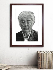 Seamus Heaney - Irish Poet illustration print - The Biscuit Marketplace