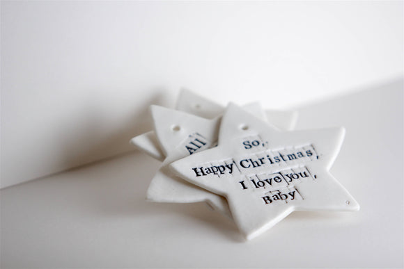 'Fairytale of new York' Porcelain Christmas Stars - The Biscuit Marketplace
