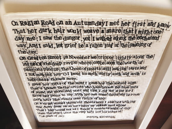 'Raglan Road' - Words in Porcelain - The Biscuit Marketplace