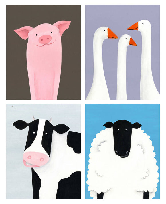 'Farmyard Fun' signed giclée print