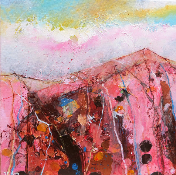 All You Need For Now - original painting, abstract landscape in acrylic on canvas - The Biscuit Marketplace