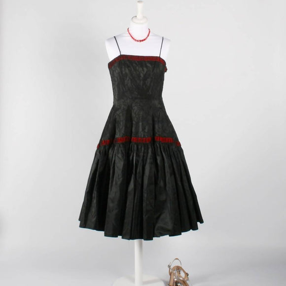 1950's Black and Red Dress - The Biscuit Marketplace