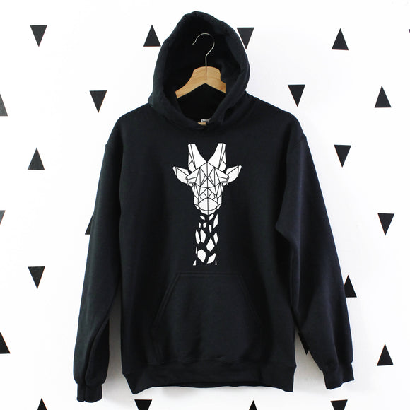 Cute Geometric Giraffe Hoodie - The Biscuit Marketplace