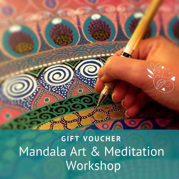 Mandala Art and Meditation Workshop Gift Voucher - The Biscuit Marketplace