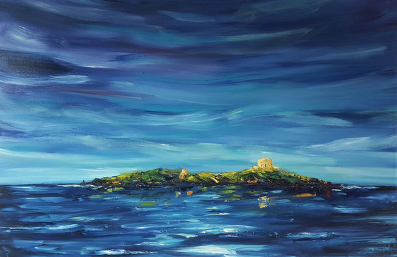 The Isle of Dreams - Dalkey Island at Dusk SOLD - The Biscuit Marketplace