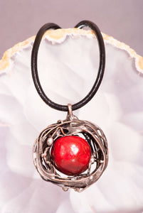 Red Apple Pendant - The Biscuit Marketplace