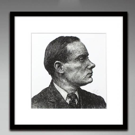 Padraig Pearse - Portrait Illustration Print - The Biscuit Marketplace