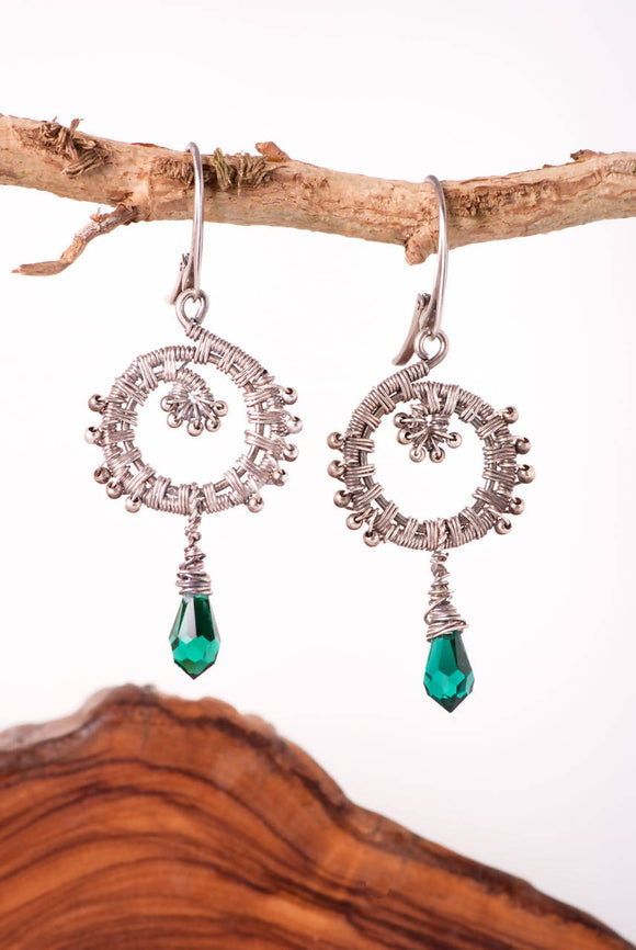 Swarovski Peacock Earrings - The Biscuit Marketplace