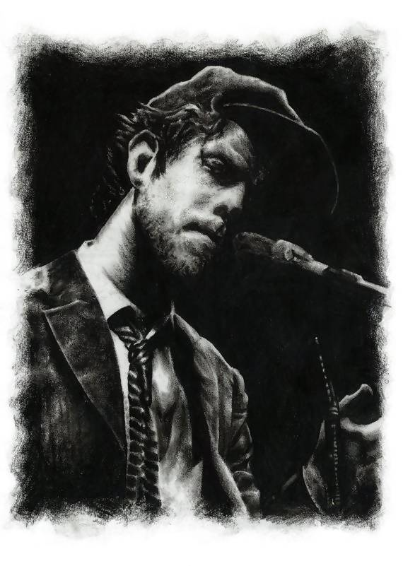 Tom Waits, Legendary American Musician - Illustration Print