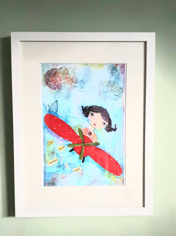 Polly Pilot Framed Print - The Biscuit Marketplace