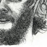Bon Iver portrait in unfinished style - Illustration Print - The Biscuit Marketplace