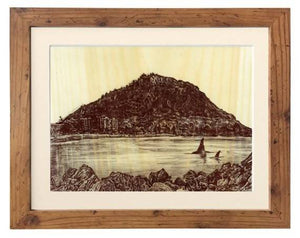 Mount Maunganui, New Zealand on Wood Paper - Illustration Print - The Biscuit Marketplace