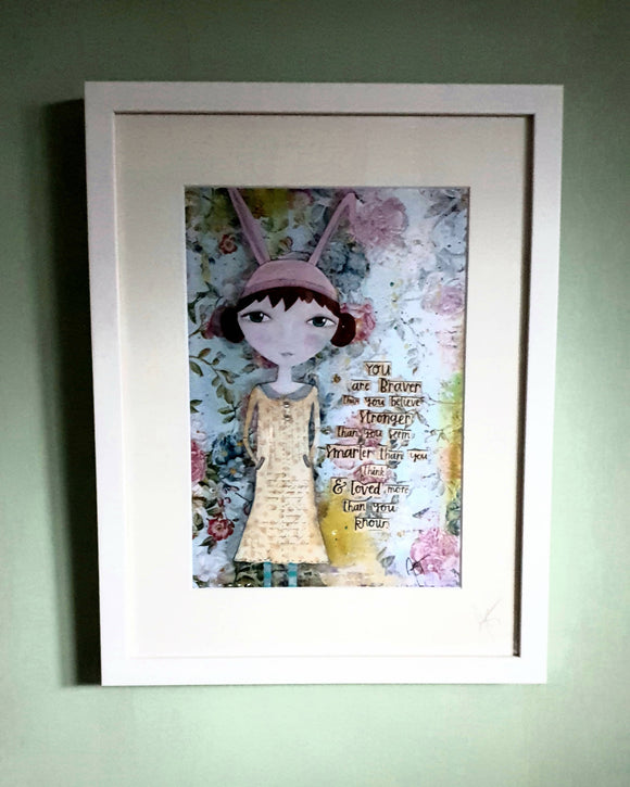 Polly Rabbit Framed Print - The Biscuit Marketplace