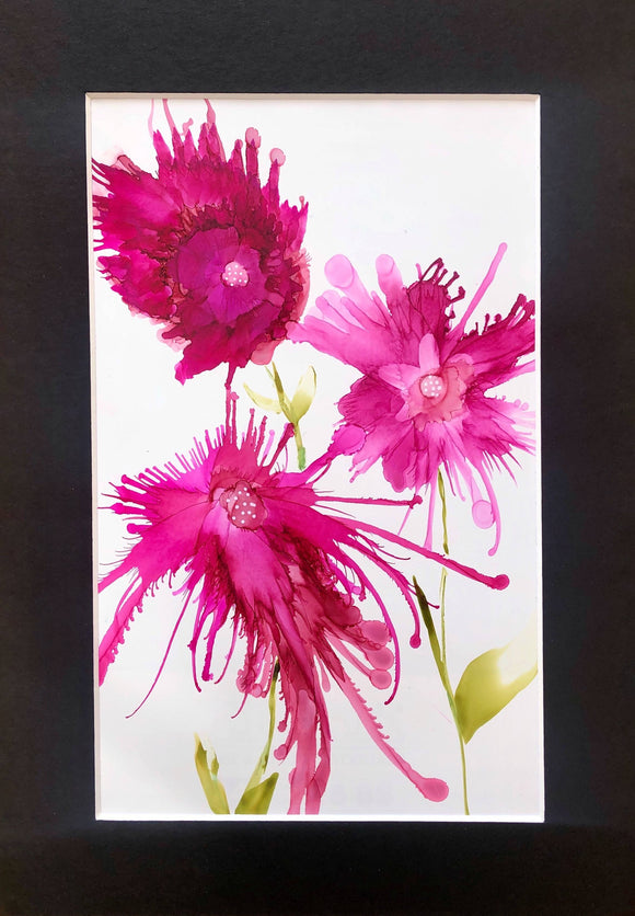 flowers painting pink 8 - The Biscuit Marketplace
