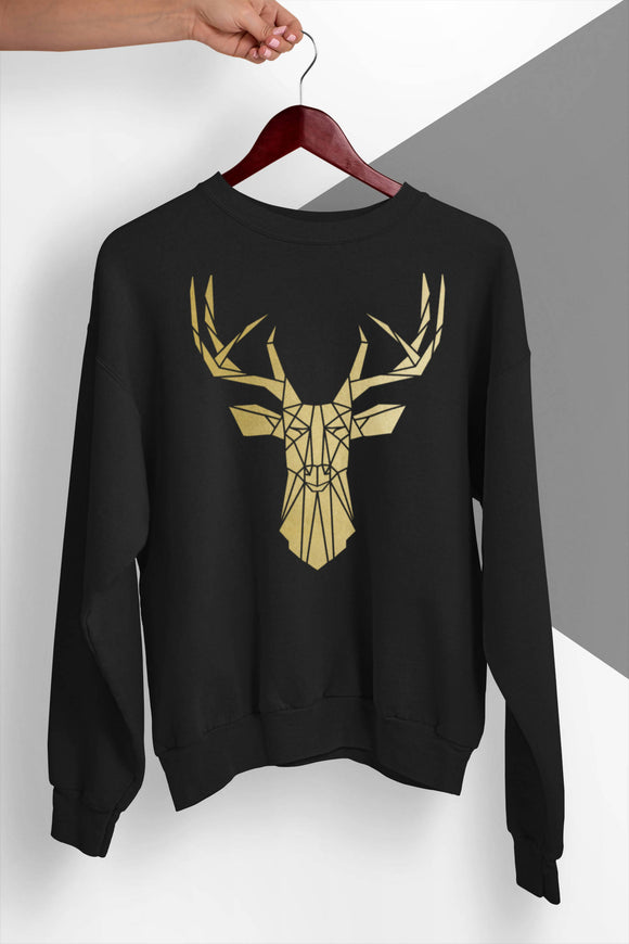 Geometric Stag Sweater - The Biscuit Marketplace