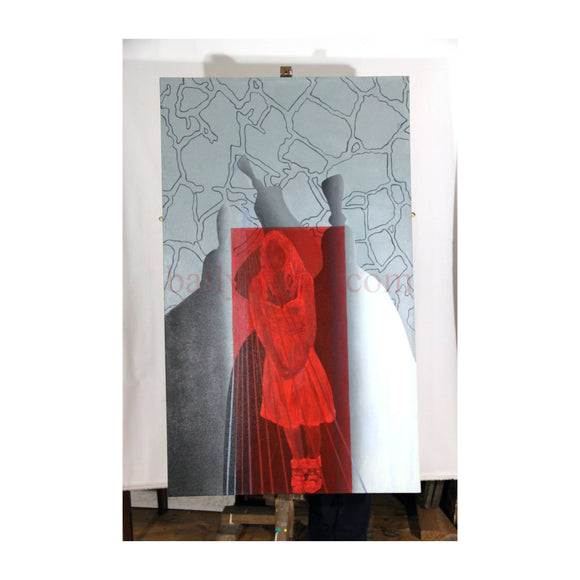 Red Room 3 | 153 x 92cm Oil on Canvas