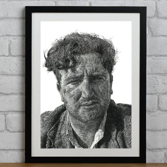 Brendan Behan - Illustration Print - The Biscuit Marketplace