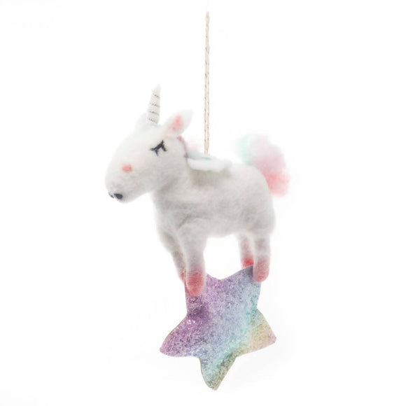 Felt Unicorn Wall Decoration - The Biscuit Marketplace