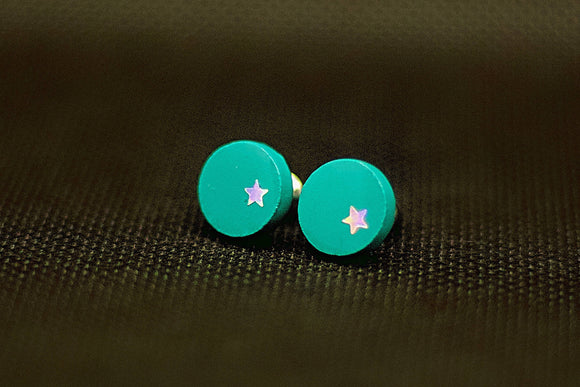 Wooden Stud Earrings - The Biscuit Marketplace