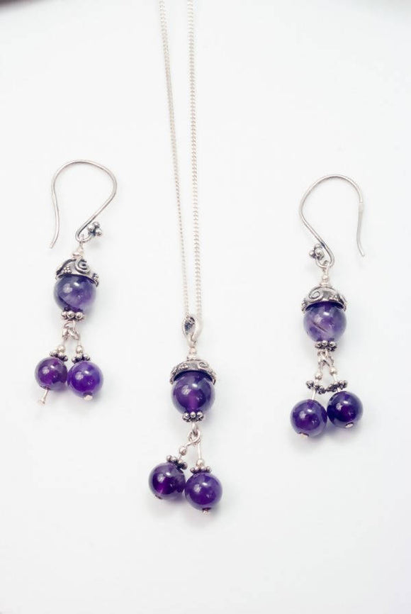 Amethyst in the Embrace of Silver - The Biscuit Marketplace