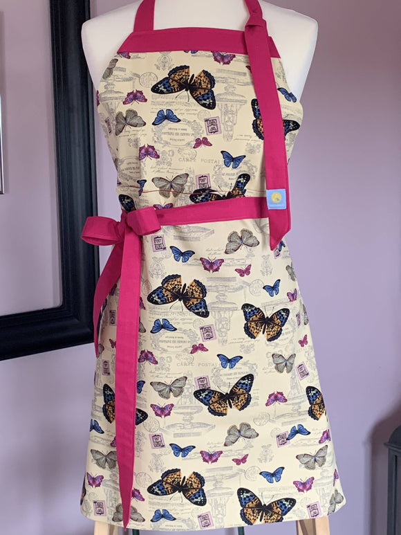 Butterfly cotton apron - The Biscuit Marketplace