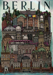 Berlin Cityscape - Illustration Print - The Biscuit Marketplace