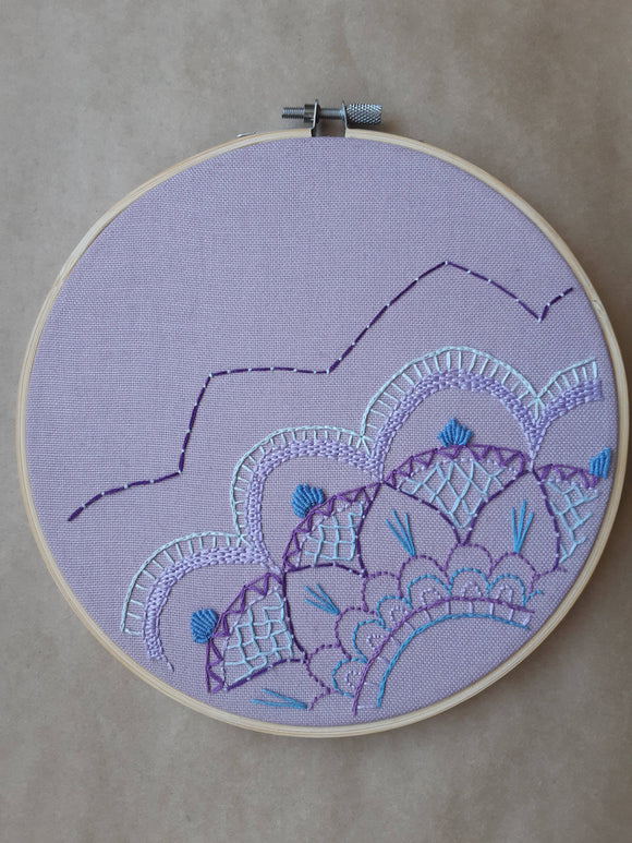 Hand Embroidered Mandala Hoop Art - The Biscuit Marketplace