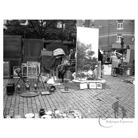 Brussels Flea Market 1 by Attracta Manson | 56cm x 42cm mounted on dibond - The Biscuit Marketplace